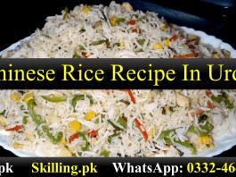 Chinese Rice Recipe In Urdu
