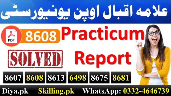 AIOU Practicum Report Sample Practicum Report B.Ed Allama Iqbal Open University