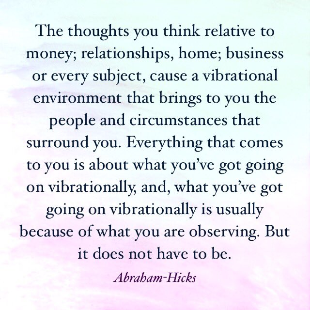 law of attraction - using your thoughts