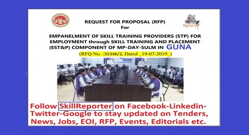RFP for empanelment of training providers under Employment through