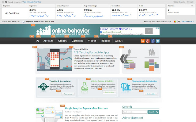 Google Page Analytics Google Chrome Extension