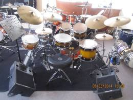 For sale drumkit Odery Fluence Fusion 6-delig inclusief hardware back