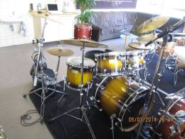 For sale drumkit Odery Fluence Fusion 6-delig inclusief hardware front