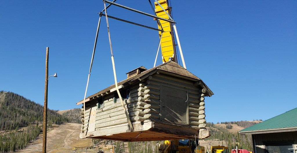 Cabin being lifted