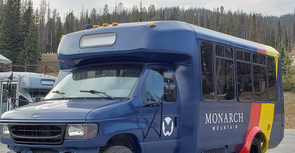 New bus paint with logos