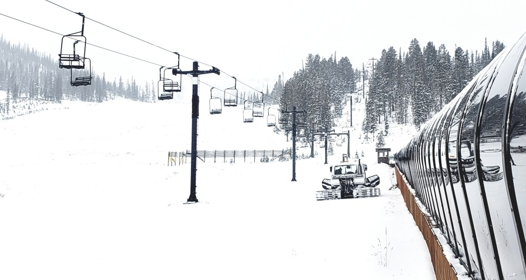 Snowcat track-packing snow