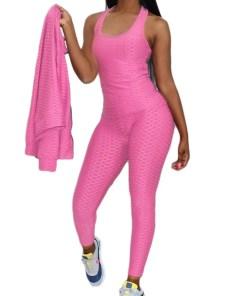 Comfortable 3-Piece Turndown Collar Patchwork Sweat Suit