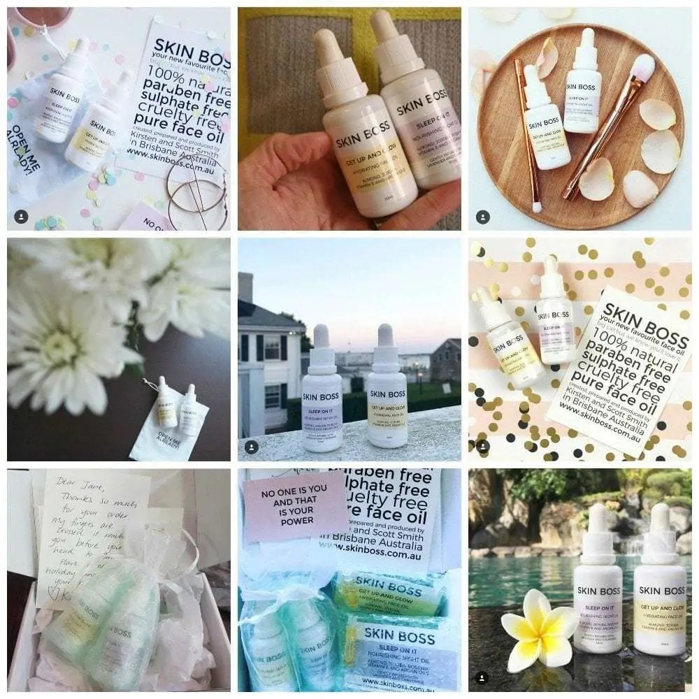 Today we're celebrating our fabulous Skin Boss customers. They know how to nail a flat lay and share our all natural face oils on Instagram like a Skin Boss! Featuring Pretty Chuffed, Baby Mac, Styling Curvy, Sublime Finds, Urban Outlet