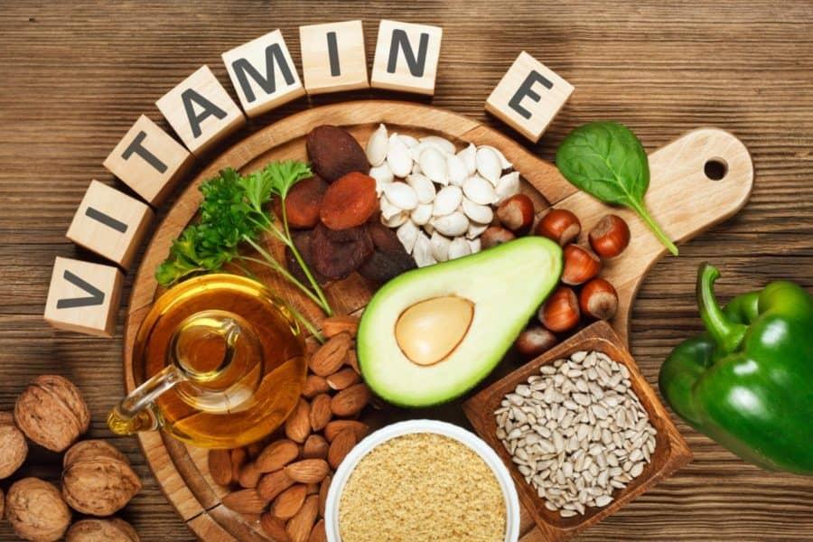 vitamine E en de huid