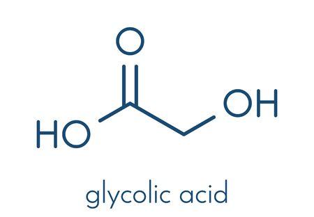 Glycolzuur molecuul