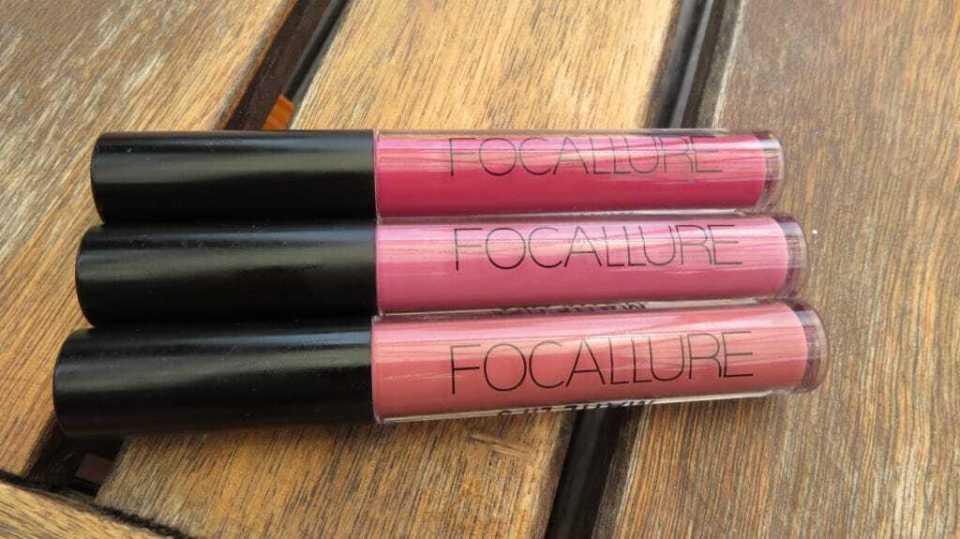 3 waterproof lipgloss van focallure. Te bestellen bij Koopjesaap.