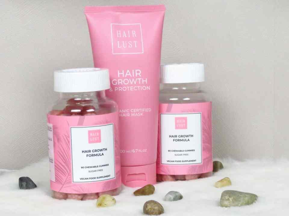 HairLust groei bevorderend en beschermend haarmasker, haargroeisnoepjes gummies, suikervrij, vegan, haarverzorgend, stimuleert haargroei, versterkt de haren, gaat haaruitval tegen, geschikt voor dun en broos haar, geschikt voor beschadigd haar.