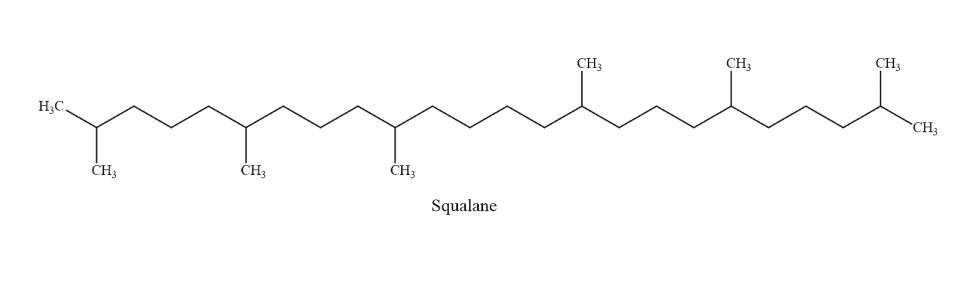 Squalane molecuul, anti-aging, huidverjongend, verminderd rimpels, hydraterend, skincare, huidverzorging, huidverbeterend, verzachtend, huidolie