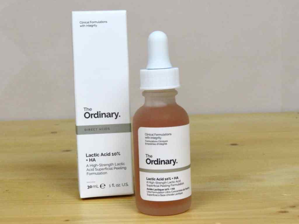 The Ordinary lactic acid peeling, melkzuurpeeling, hydraterend, acne, droge huid, pH-waarde in balans brengen