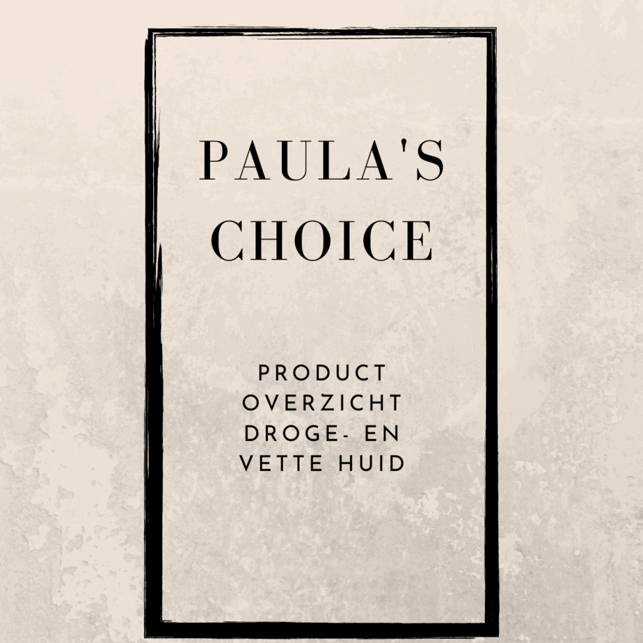 Paula's Choice productoverzicht