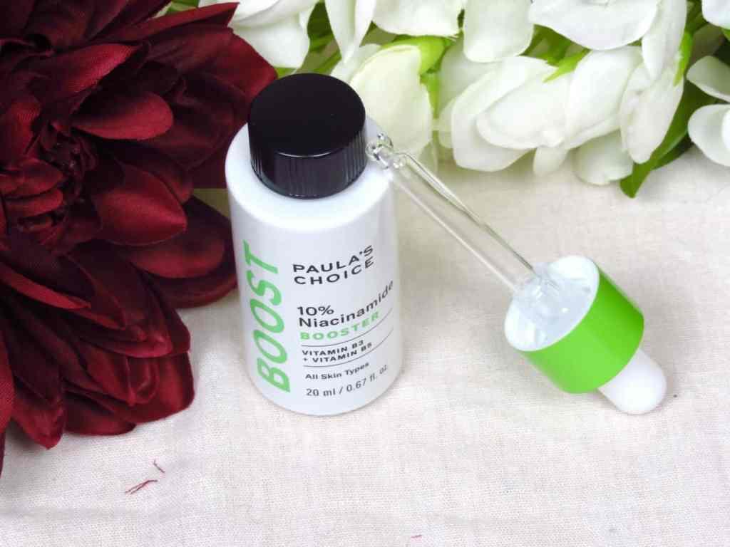 Niacinamide 10% booster paula's choice, alle huidtypes, vermindert roodheden, pigmentvlekken & een doffe huid. Egaliseert en laat je huid stralen