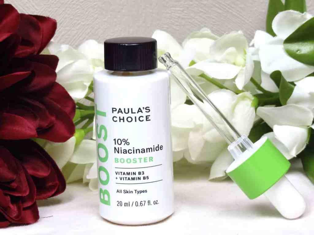 Niacinamide 10% booster paula's choice, ideaal voor alle huidtypes, ook voor de gevoelige huid. Vermindert roodheden, oneffenheden, egaliseert en vermindert ook pigmentvlekken
