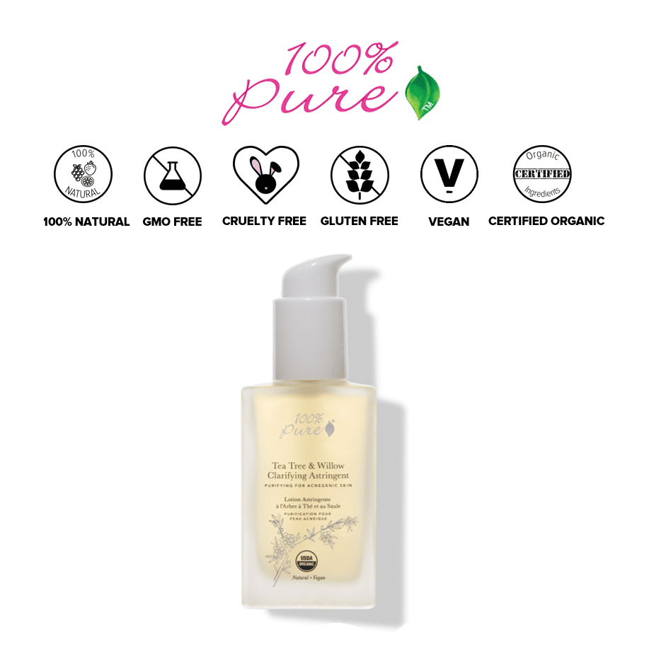 *100% PURE – TEA TREE & WILLOW ACNE CLEAR ASTRINGENT | $42 |