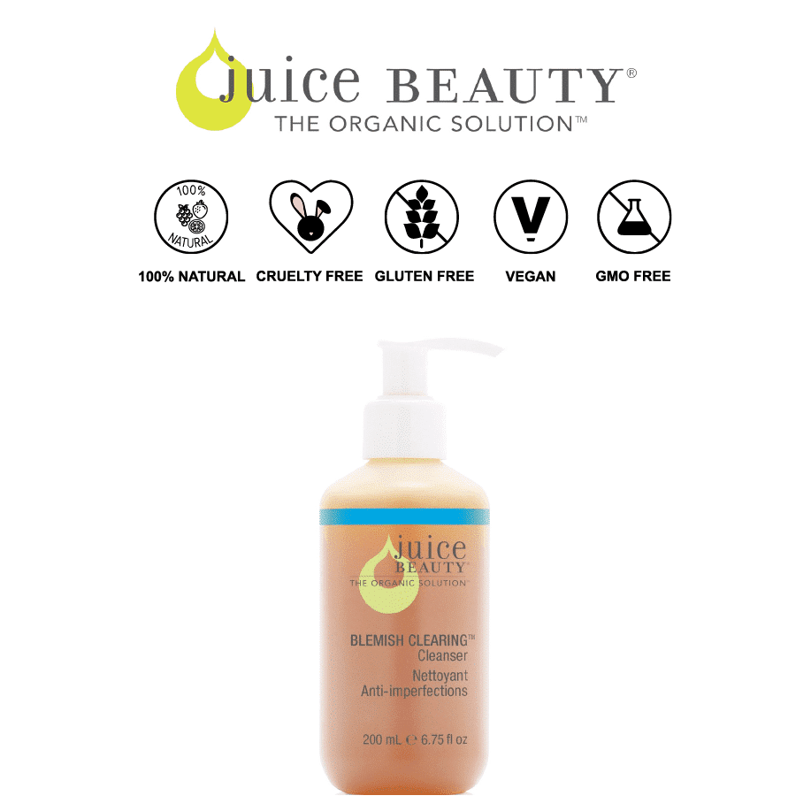 *JUICE BEAUTY – BLEMISH CLEARING ORGANIC ACNE CLEANSER | $24 |
