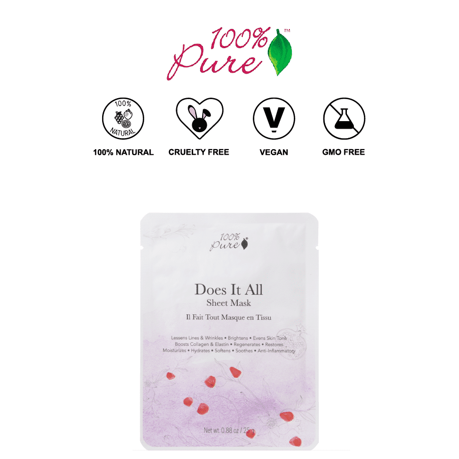 *100% PURE – DOES IT ALL NATURAL SHEET MASK | $6 |