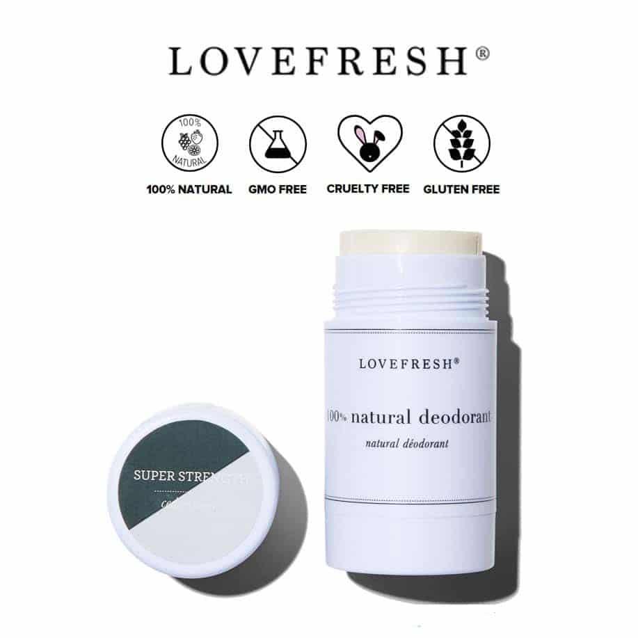 *LOVEFRESH – SUPER STRENGTH ZINC OXIDE DEODORANT | $24 |
