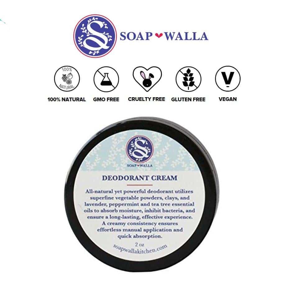 *SOAPWALLA – ORIGINAL ORGANIC DEODORANT CREAM | $18 |