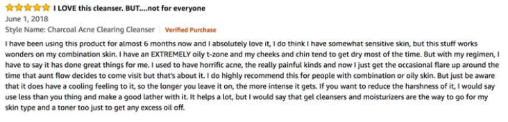 A positive Review about the BIORÉ Charcoal Acne Scrub