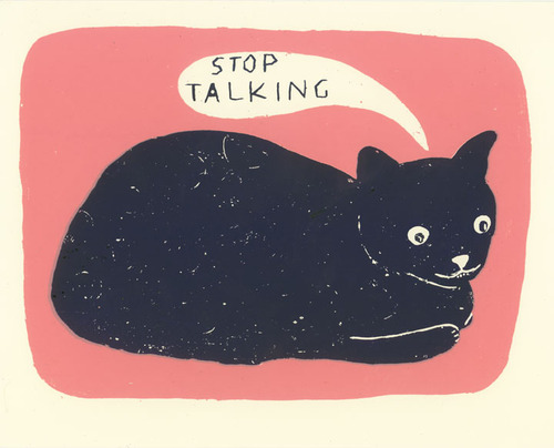 Skinned Knees Fancy That Martha Rich Stop Talking Cat Illustration