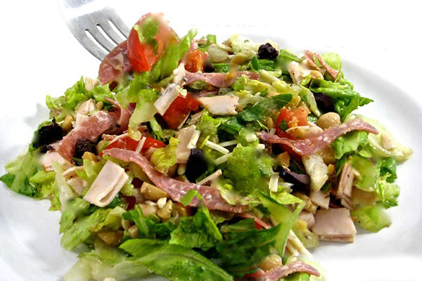 Oh my yumminess! La Scala's Famous Chopped Salad Made Skinny