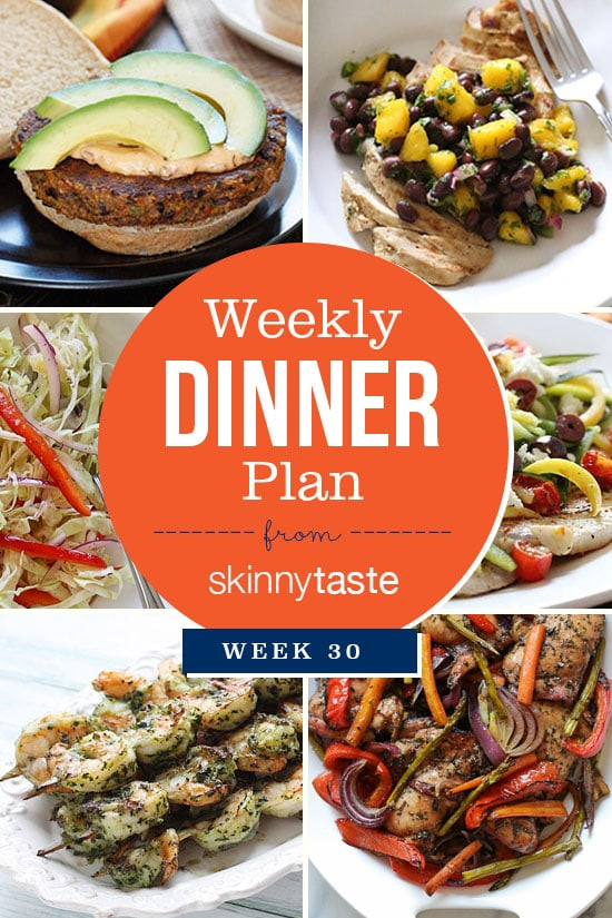 Skinnytaste Dinner Plan Week 30. Healthy dinners for the week!