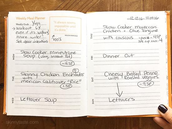 Skinnytaste Dinner Plan (Week 54)
