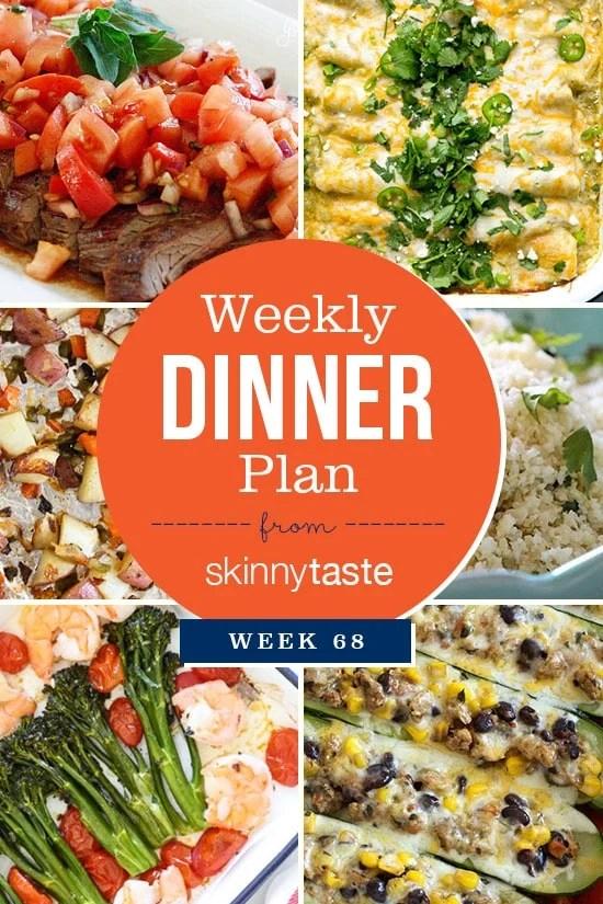 Skinnytaste Dinner Plan (Week 68)
