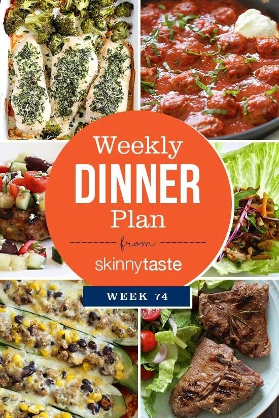 Skinnytaste Dinner Plan (Week 74)