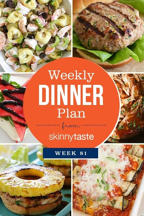 Skinnytaste Dinner Plan (Week 81)