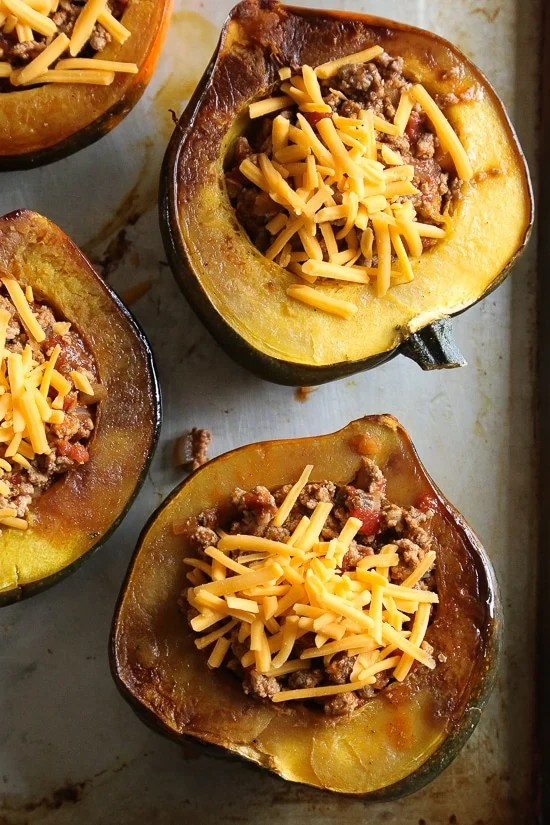 What happens when you stuff an acorn squash with turkey chili? You have an edible bowl that's not just good for you, it tastes great too!