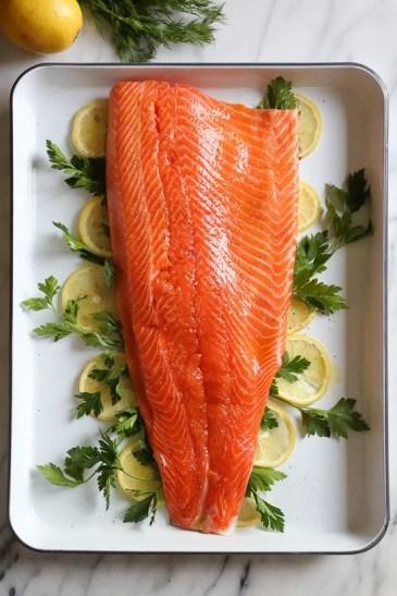 Baked Salmon with Fresh Herbs - Skinnytaste