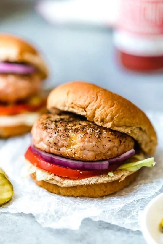 Delicious, healthy turkey cheeseburgers