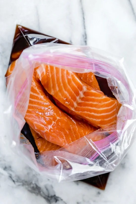 Maple soy marinade for salmon is my favorite!