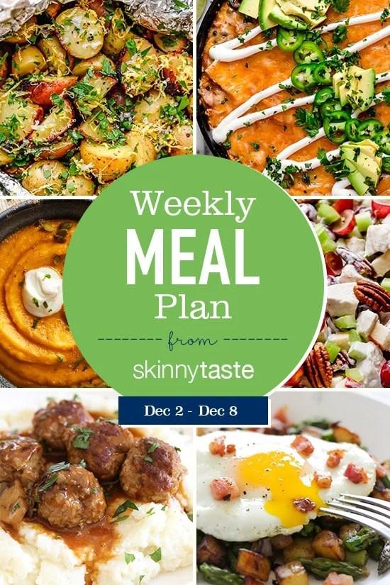 Un plan de comidas de pérdida de peso flexible de 7 días que incluye desayuno, almuerzo y cena y una lista de compras. Todas las recetas incluyen calorías y puntos WW.