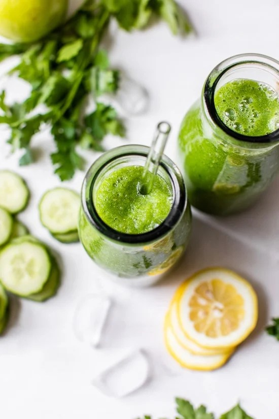 This healthy, Green Apple Lemon Cucumber and Ginger Smoothie is a great source of many vitamins and minerals, especially vitamin C and a great way to boost your immune system.
