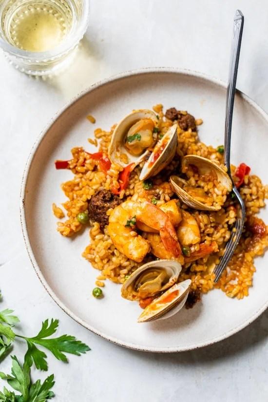 Clam and Shrimp paella