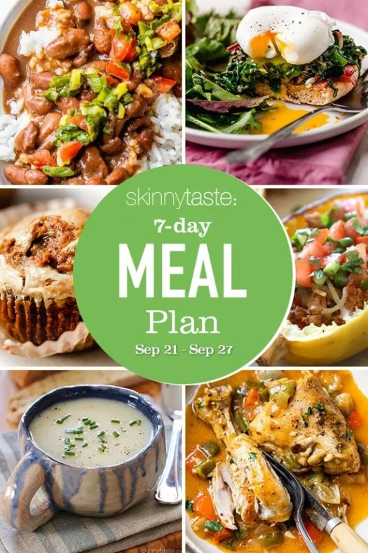 Healthy Meal Plan (Sept 21-27)