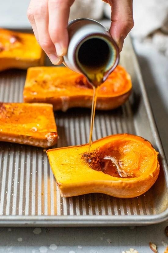 Roasting honeynut squash