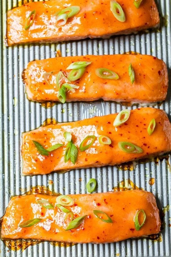 Sweet and Spicy Baked Salmon