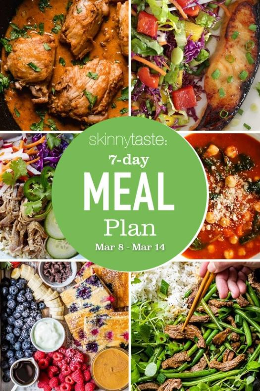 7 Day Healthy Meal Plan (March 8-14)