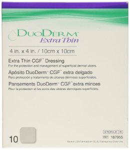 DuoDerm bandages for ulcers and wounds