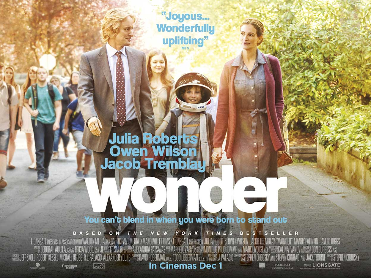 Image result for wonder movie poster julia roberts