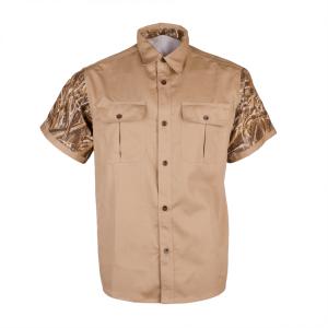 "Men's Classic ""TITAN"" Short Sleeve Hunting Shirt Front"