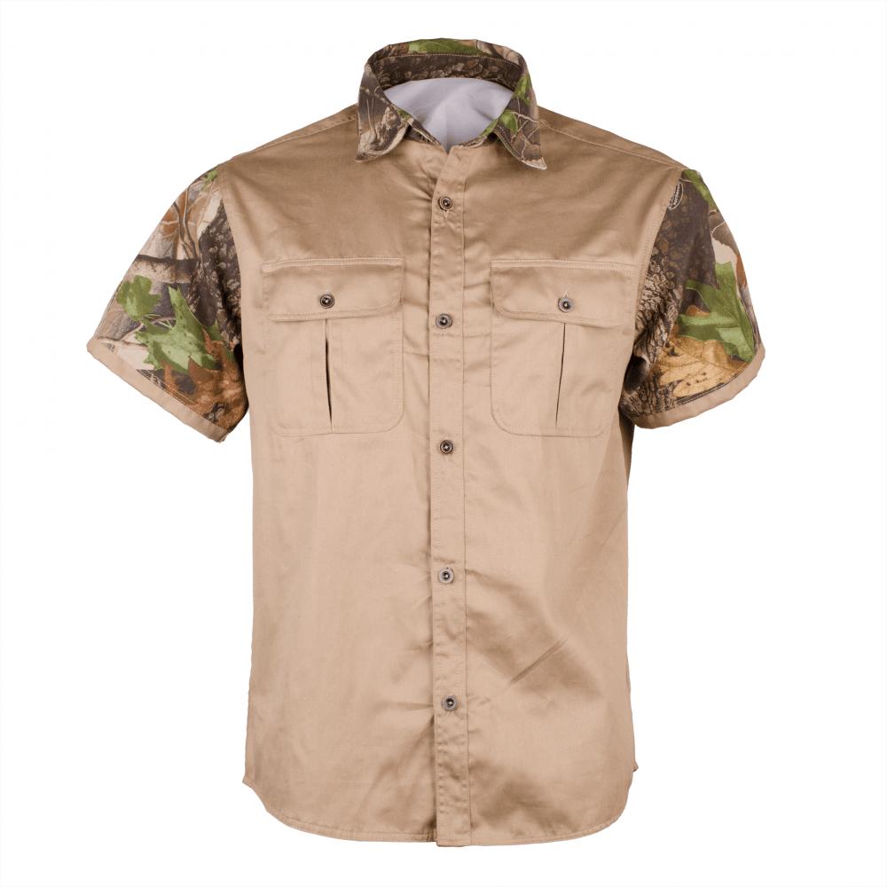 "fb8884f4cd90 Men's Classic ""TITAN-PRO"" Short Sleeve Hunting Shirt Front - SkinUp ..."