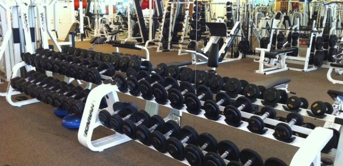 Dumbbells inside gym 2